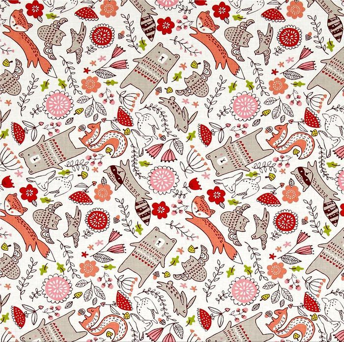 Woodland Animals - Just Another Walk In The Woods Fabric Collection by Stacy Iest Hsu - Moda Fabric - Patchwork & Quilting