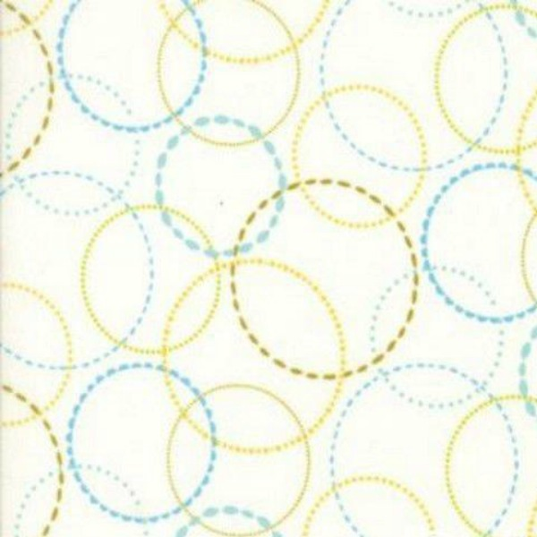 Circles - Wing & Leaf - Pink Crosshatch by Gina Martin for Moda Fabrics - Patchwork & Quilting