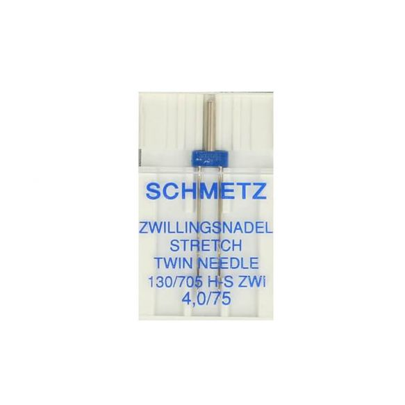 Schmetz Universal Twin Stretch Needle 4mm Uncarded