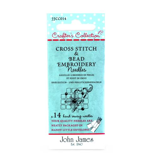 Cross Stitch And beading embroidery needles by John James