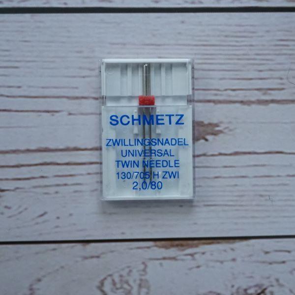 Schmetz Universal Twin Needle 2mm Uncarded