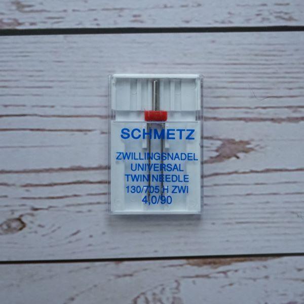 Schmetz Universal Twin Needle 4mm Uncarded