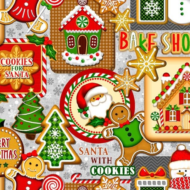 Quilting Fabric -  Noel Cookie Patch by Oasis Fabrics