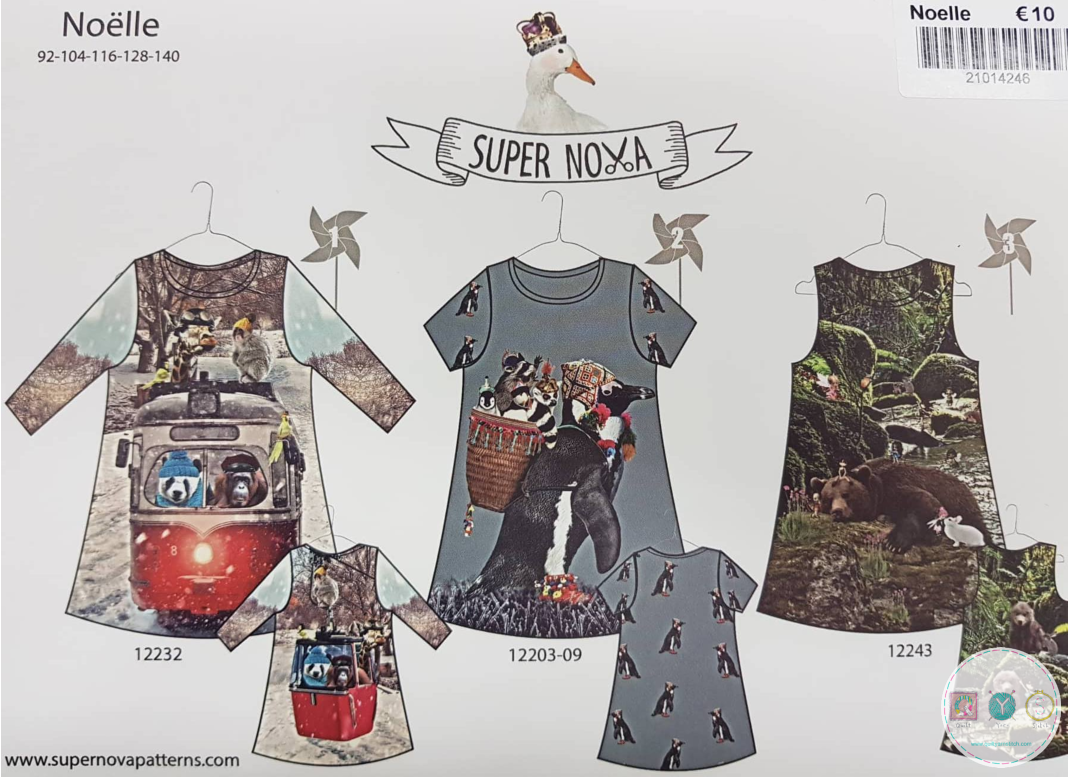 Super Nova - Noelle - Dress Pattern Set - 3-7 years - Jersey Outfits  - Dressmaking