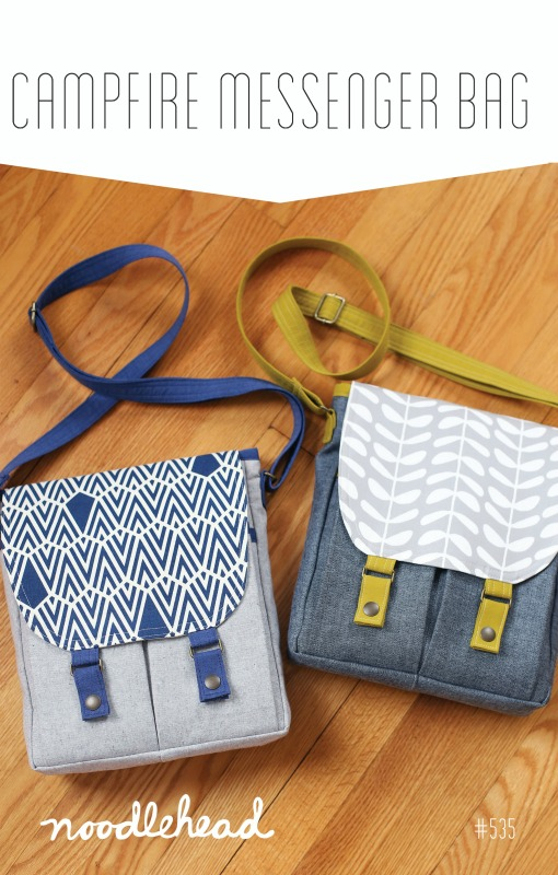 Noodlehead -Campfire Messenger Bag Sewing Pattern