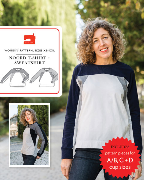Liesl + Co - Noord T-shirt And Sweatshirt Sewing Pattern