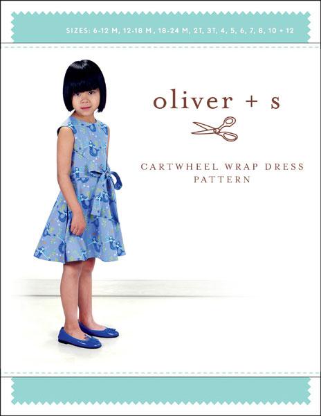 Oliver + S - Cartwheel Wrap Dress Girls Sewing Pattern (6m - 12years)