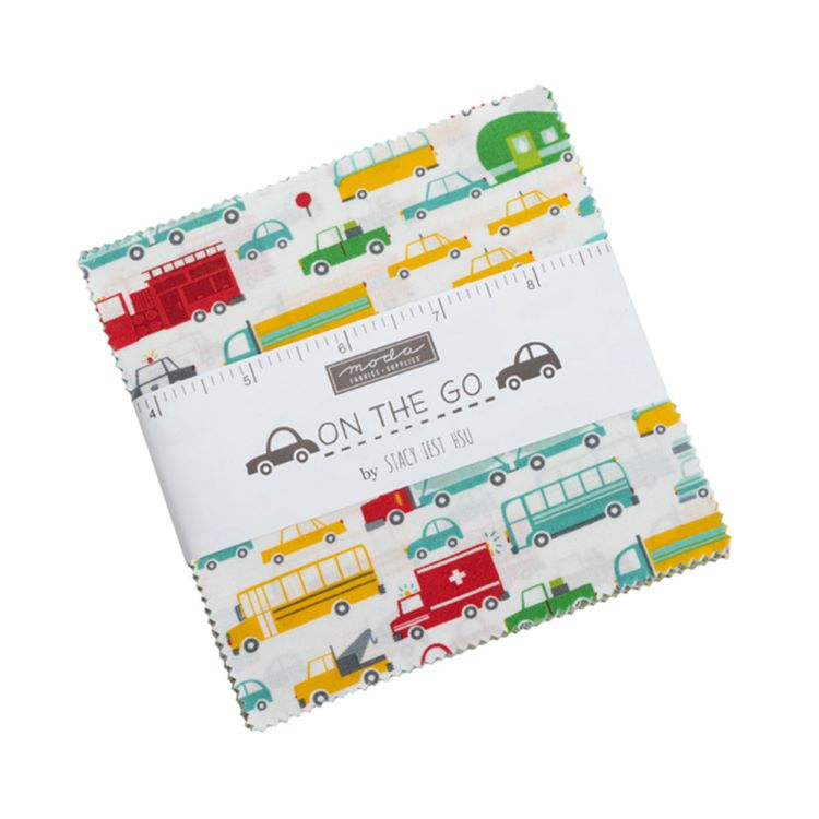 Quilting Fabric Charm Pack  - On The Go By Moda Fabrics
