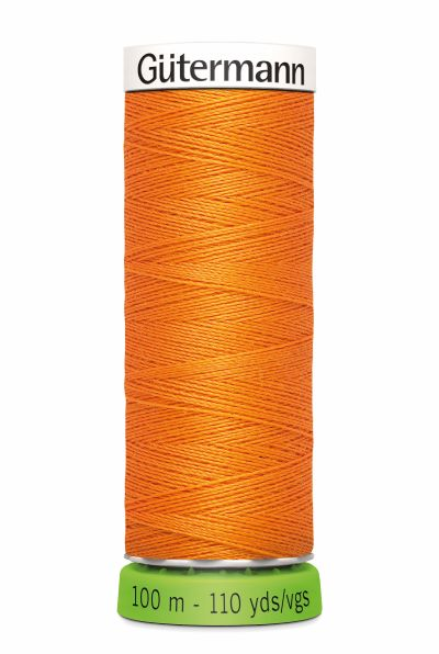 Gutermann Sew All Thread - Orange Recycled Polyester rPET Colour 350
