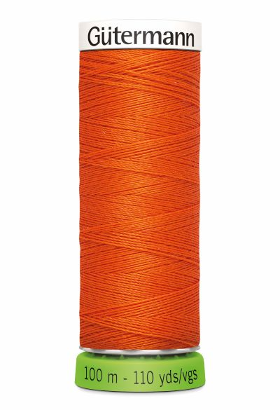 Gutermann Sew All Thread - Orange Recycled Polyester rPET Colour 351