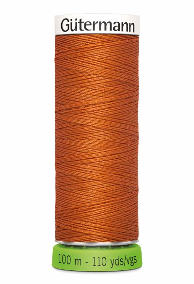 Gutermann Sew All Thread - Orange Recycled Polyester rPET Colour 982