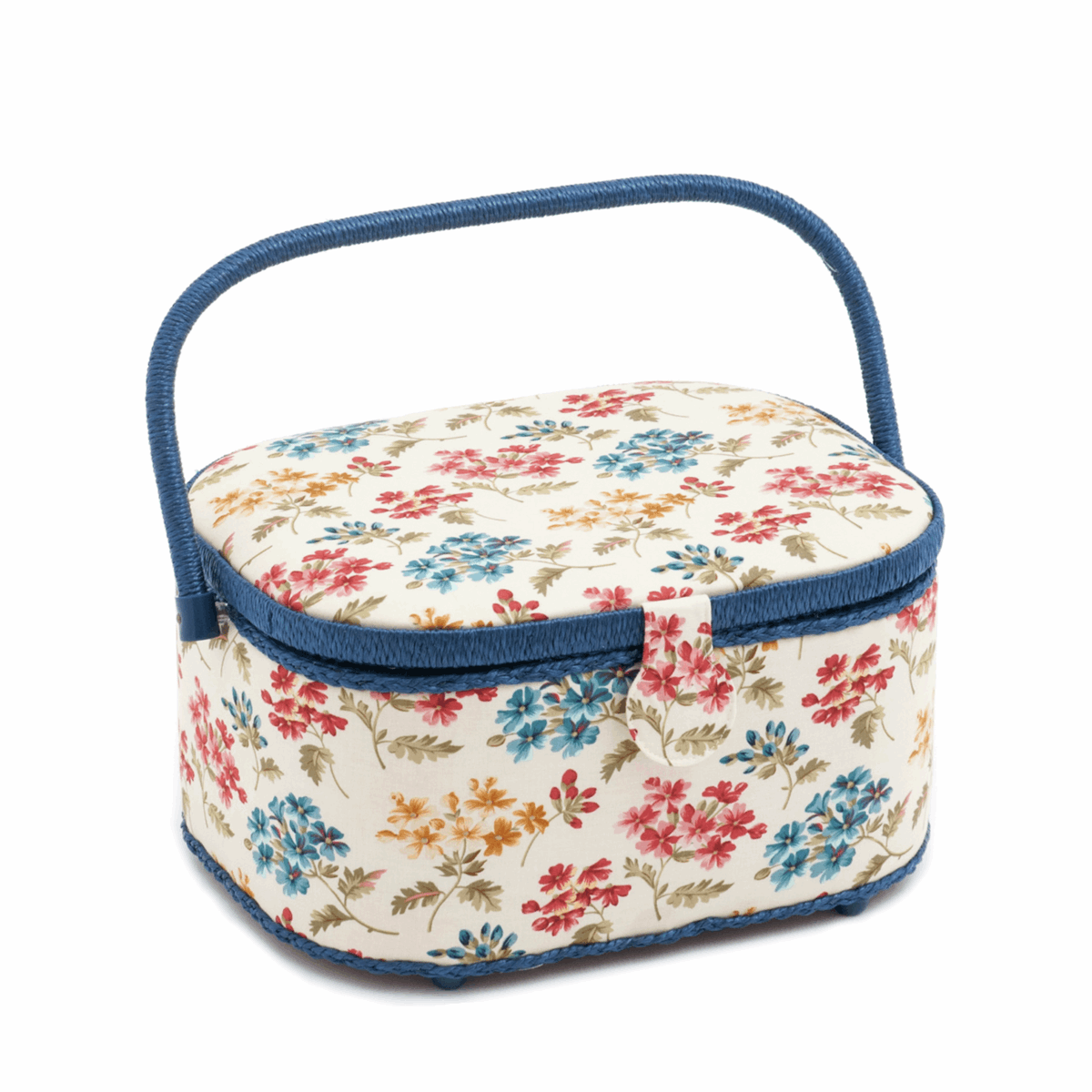 Fairfield Floral Large Oval Sewing Box