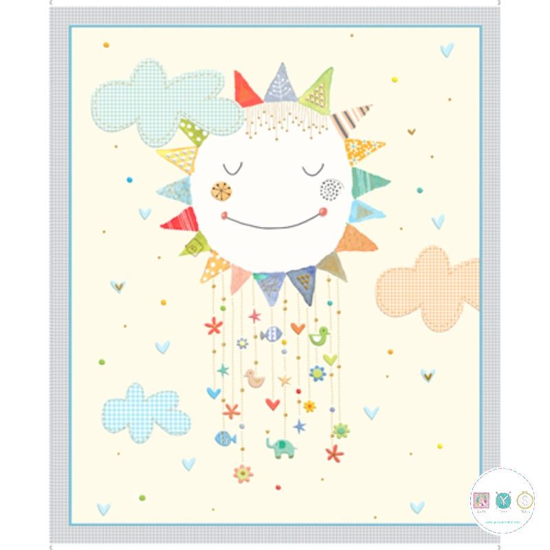 Lil Sunshine - Cotton Fabric Panel - by QT Fabrics - Quilting Treasures - Patchwork & Quilting