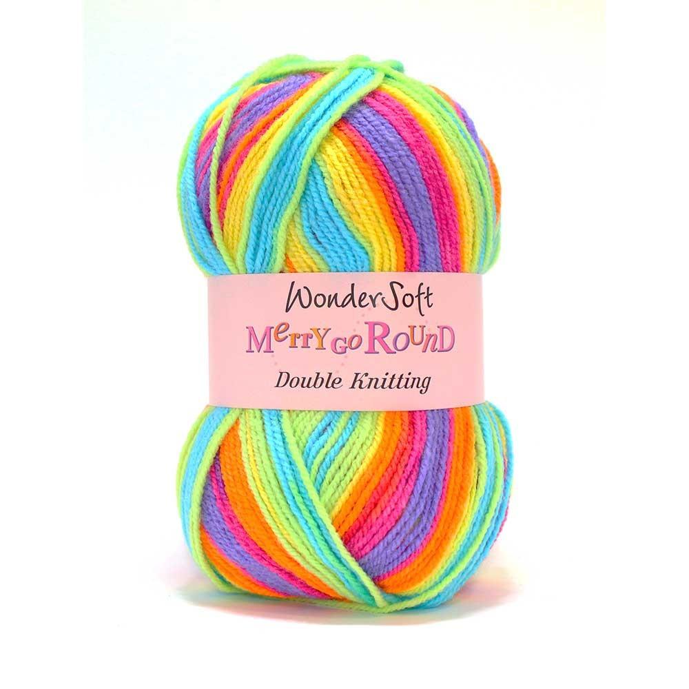 Stylecraft Wondersoft Yarn - Merry Go Round - DK Wool - Pastel Rainbow 3154