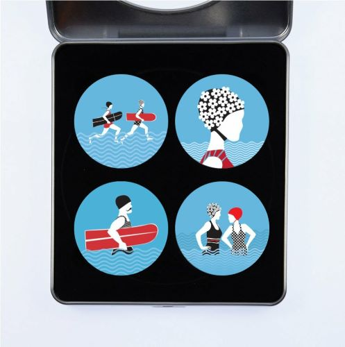 Gift Idea - Pattern Weights designed by Alison Bick featuring a fun Swimming Theme