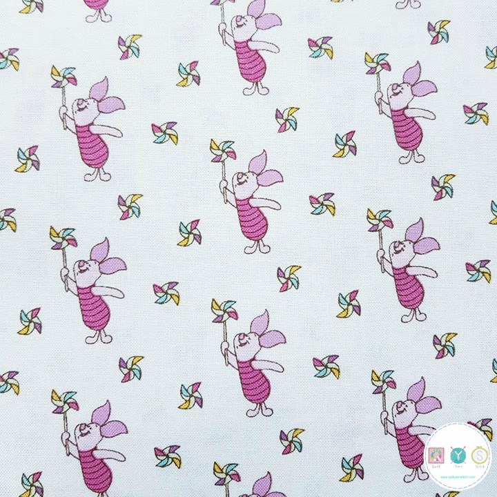 Classic Winnie The Pooh Fabric Piglet The Craft Cotton