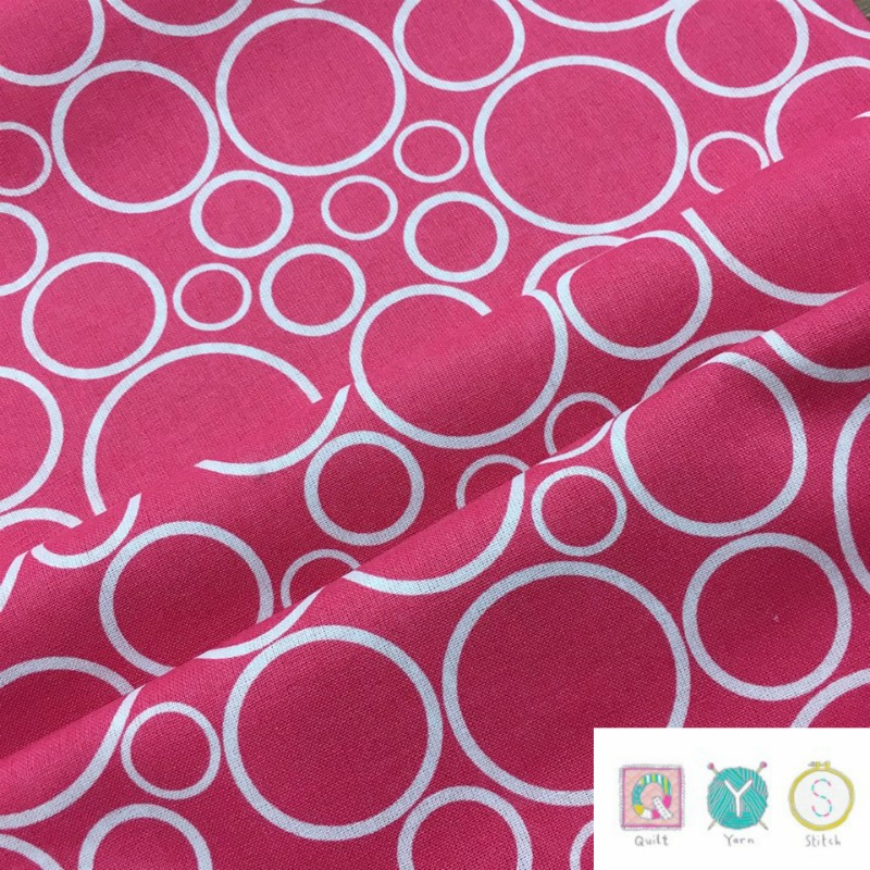 Pink Contemporary Spot On Circles Material - 108