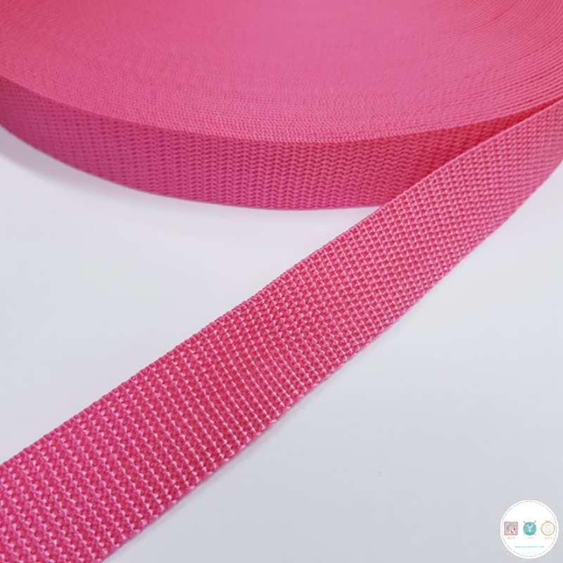 25mm Cerise Pink -  Polypropylene Webbing - Bag Strapping - Haberdashery