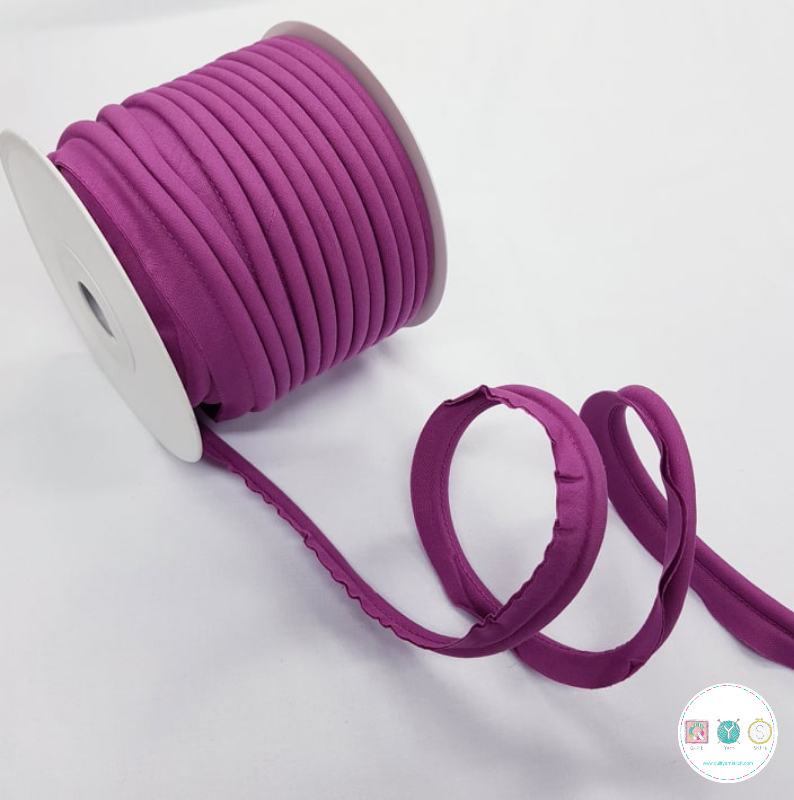 Piping in Purple Col 55 - 18mm Wide by Fany
