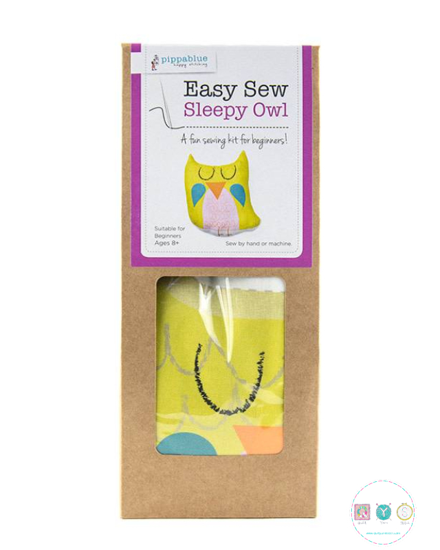 Easy Sew Kit - Sleepy Owl - Beginners Sewing Project - by Pippablue - Childrens Kit