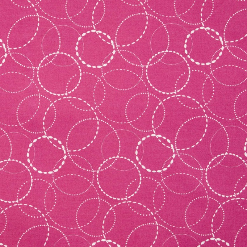Wing & Leaf Pink Circles by Gina Martin for Moda Fabrics - Patchwork & Quilting
