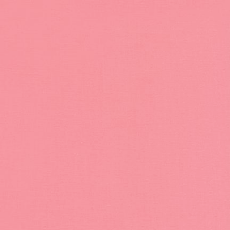 Robert Kaufman Kona Cotton Fabric - Plain Watermelon Pink Solid 1384 for Patchwork & Quilting