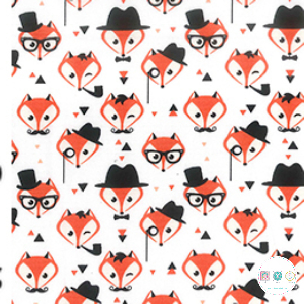 Dapper Foxes - Animals - Cotton Poplin Fabric - by Rose & Hubble - Craft & Dressmaking