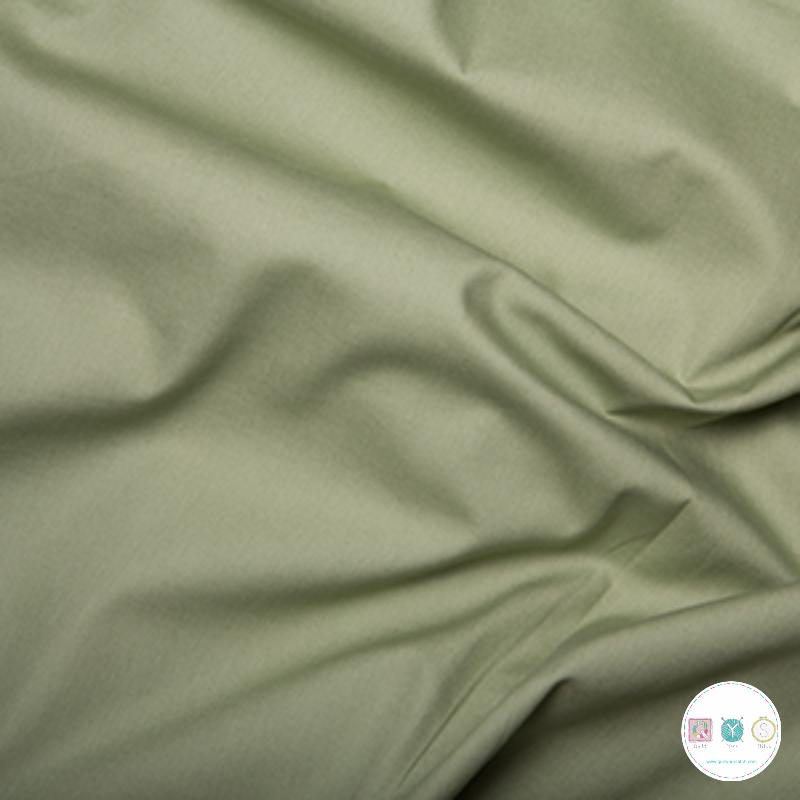 Green Solid Poplin - Cotton Poplin Fabric - by Rose & Hubble - Craft & Dressmaking