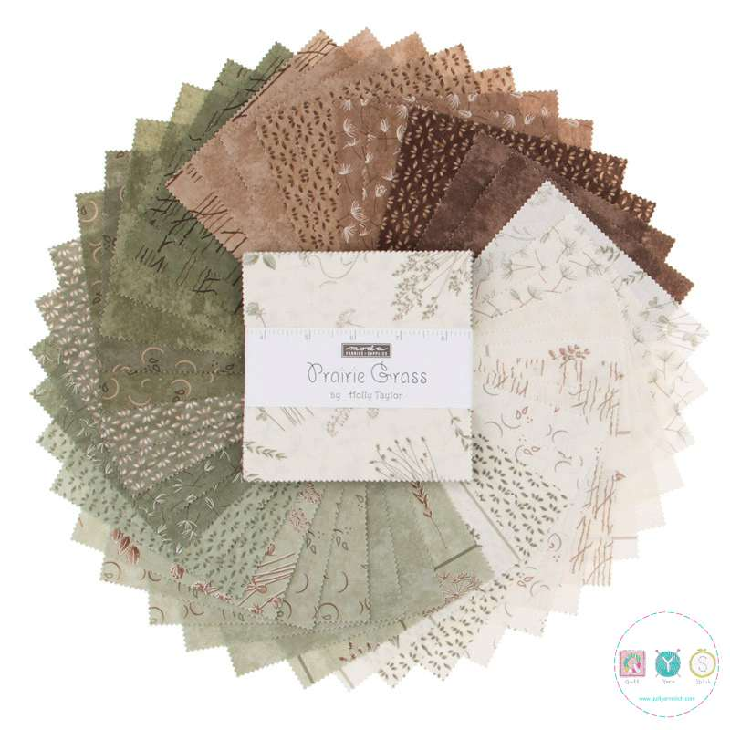 Prairie Grass - Moda Charm Pack - by Holly Taylor - Pre Cuts - Patchwork & Quilting