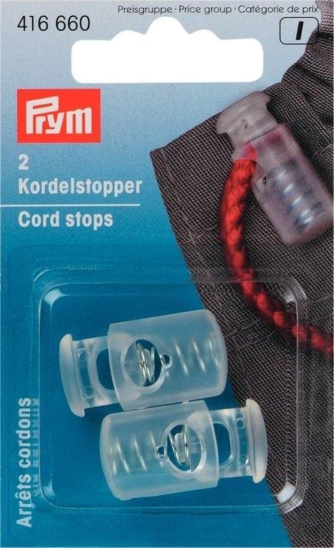 Prym Medium Transparent One-Hole Cord Stops 416660