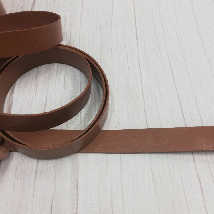 20mm PU Leather Bag Strapping in Lighter Brown