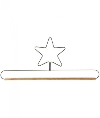 12 Inch Star Hanger - Metal & Wood - Mini Quilt, Embroidery, Needlework Display