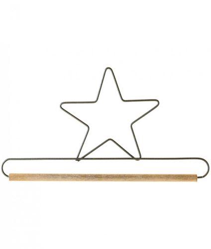 "6"" Star Hanger - Metal & Wood - Mini Quilt, Embroidery, Needlework Display"