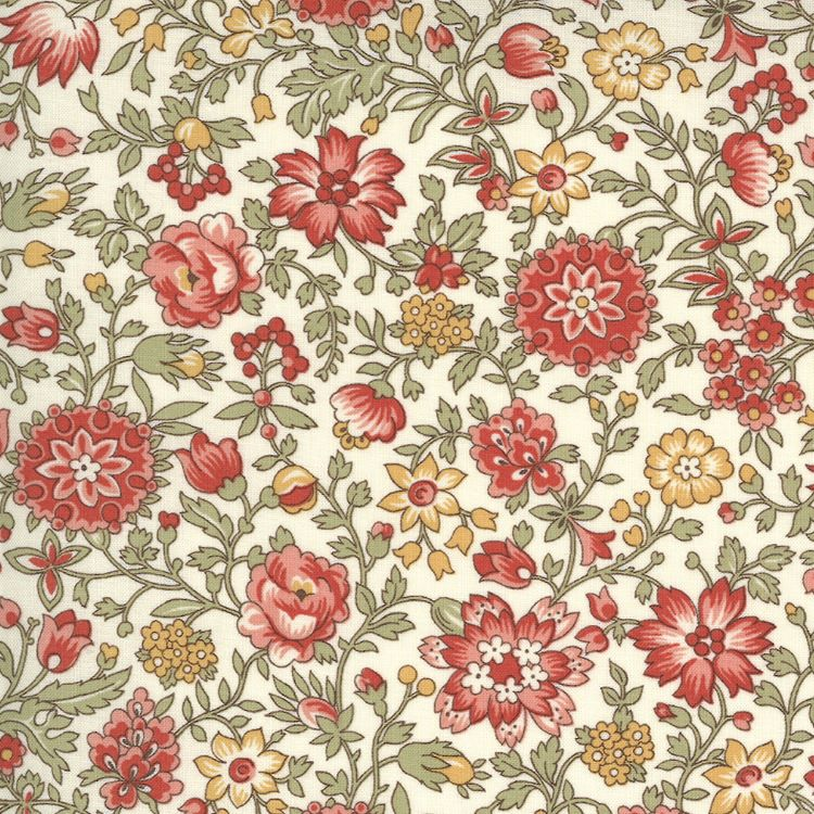 Quilting Fabric - Classic Florals & Vines from Jardin De Fleurs by French General for Moda 13894 20