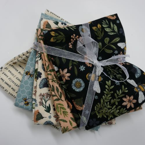 Quilting Fabric - Bee Kind Fat Quarter Bundle by Northcott Fabrics.