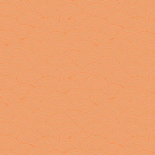 Quilting Fabric Sashiko Mixology by Camelot Fabrics Orange Soda 21008-44