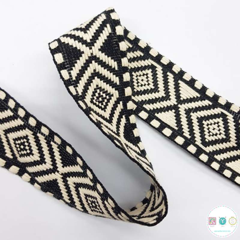 Aztec Braid Black - 1.5