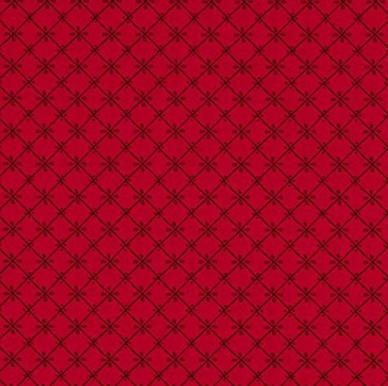 Red Grid - Just Another Walk In The Woods Fabric Collection by Stacy Iest Hsu - Moda Fabric - Patchwork & Quilting