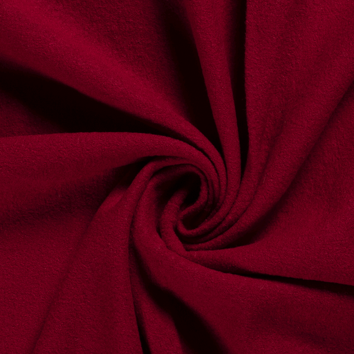 Red Boiled Wool -  100% Wool Fabric - 387gsm