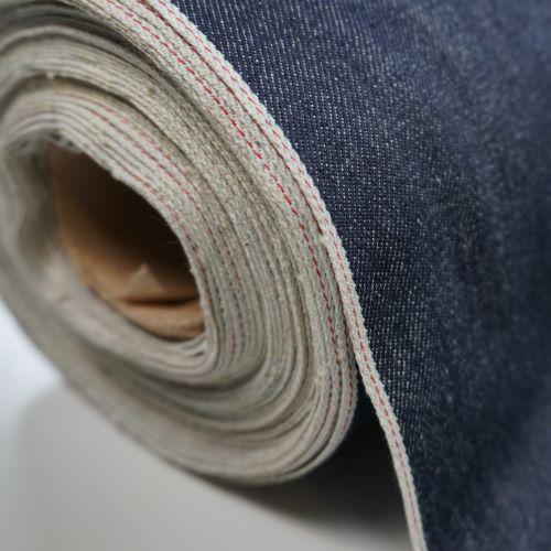 Red Selvage Denim Fabric Indigo Deadstock