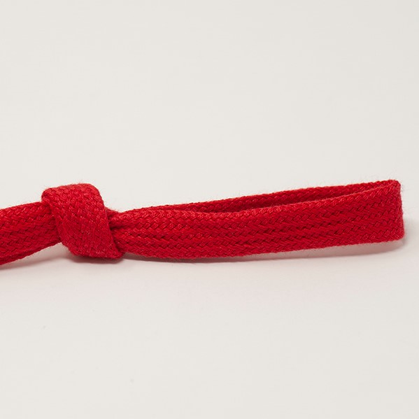 8mm Flat Tubular Drawstring Tape Red