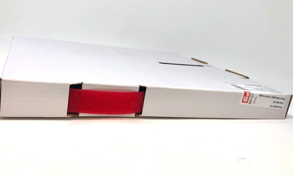 20mm Red Sew In Velcro Loop Tape by Prym