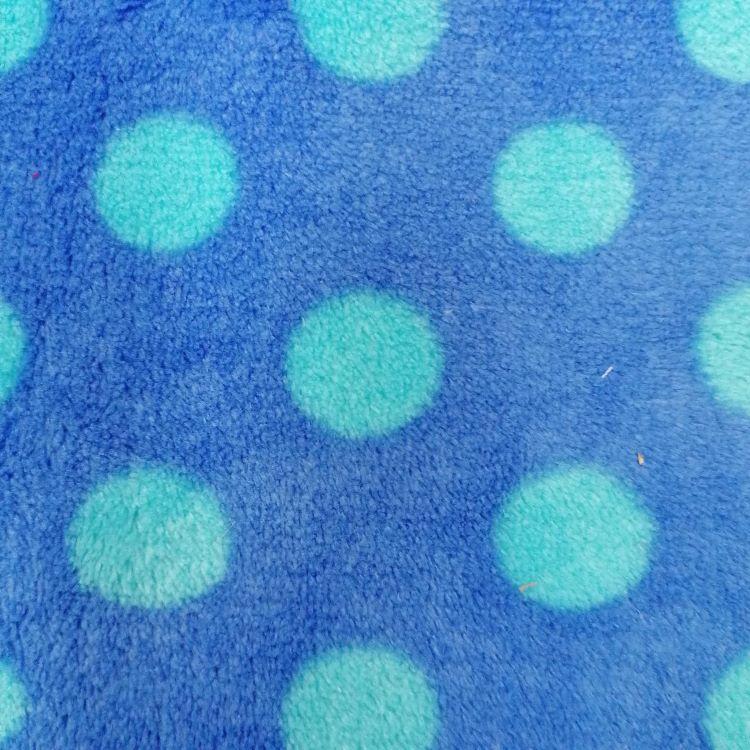 REMNANT - 0.14m Blue Spots on Blue Minky