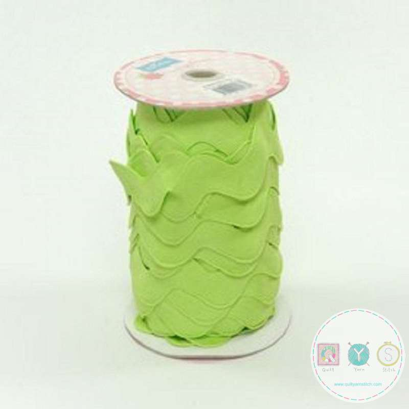 Riley Blake Apple Green Jumbo Ric Rac - Trim for Fabric Projects - Polyester Embellishment - Haberdashery