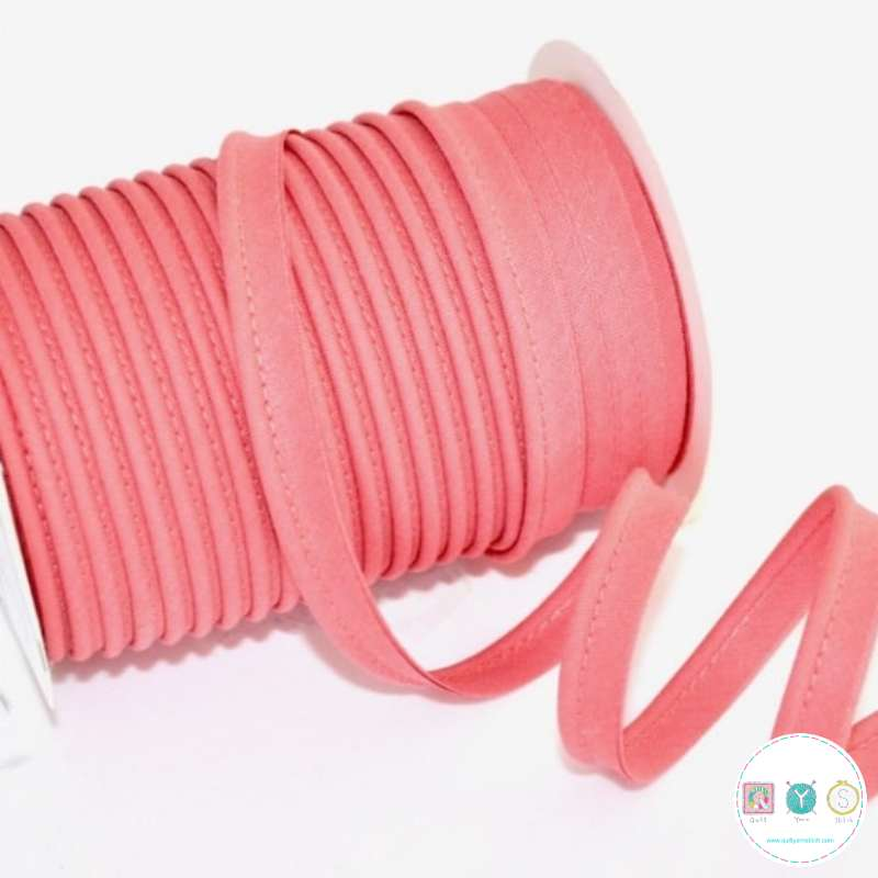 Byetsa Fany Bias Binding Piping - Salmon - Coral Pink - 18mm - Insertion Cord - Trimming - 18mm - Haberdashery