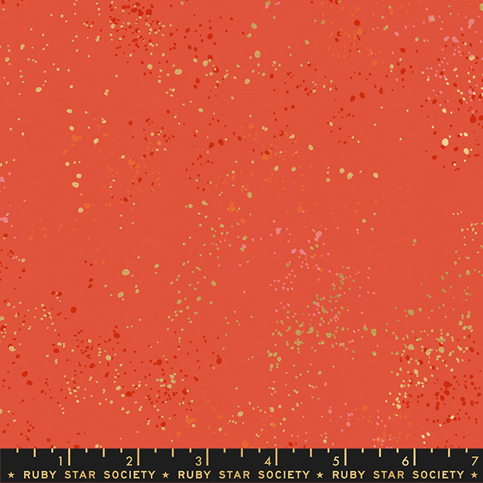 Ruby Star Society Fabric Festive Speckled with Metallic Accents Colour 75M for Moda