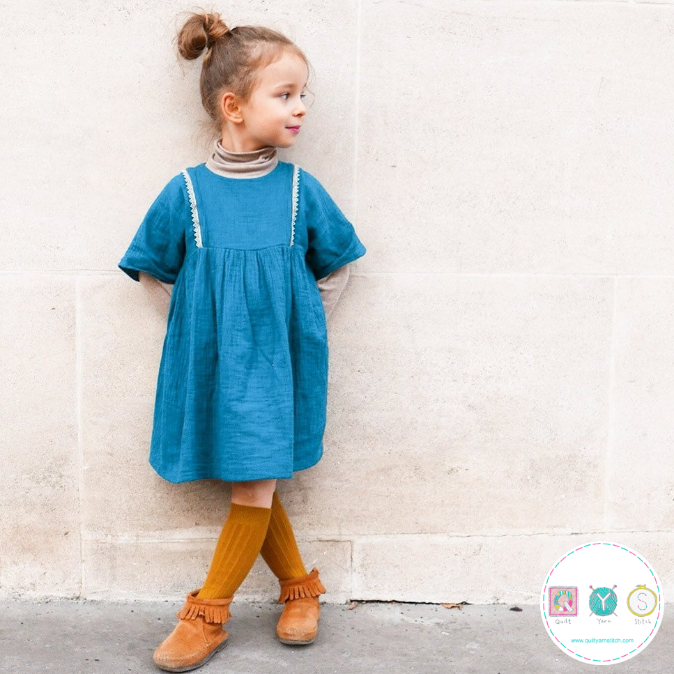 Sakura Blouse And Dress Sewing Pattern - by Ikatee - French Sewing Patterns for Kids - Childrens Dressmaking
