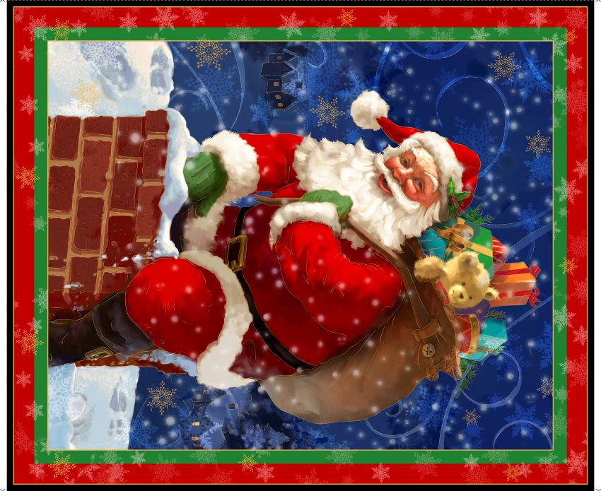 Large Santa Panel Digital Print by Quilting Treasures AS  27735R