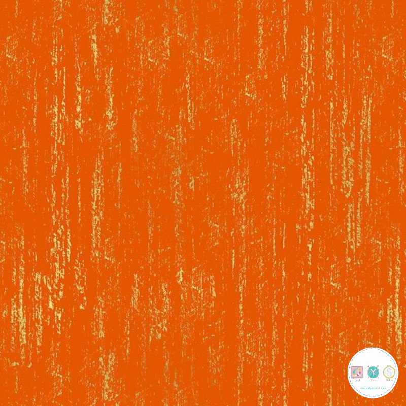 Ruby Star Society - Crescent - Gold & Orange Cotton Fabric - by Sarah Watts for Moda Fabrics - Patchwork & Quilting
