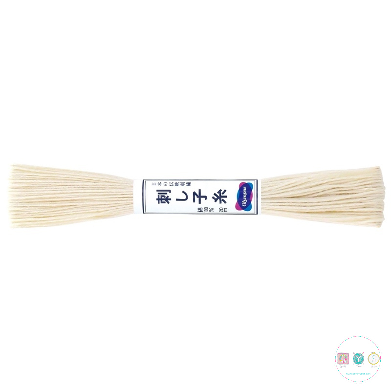 Olympus Sashiko Thread - Ecru ST-02 - Cream - Cream Embroidery Thread